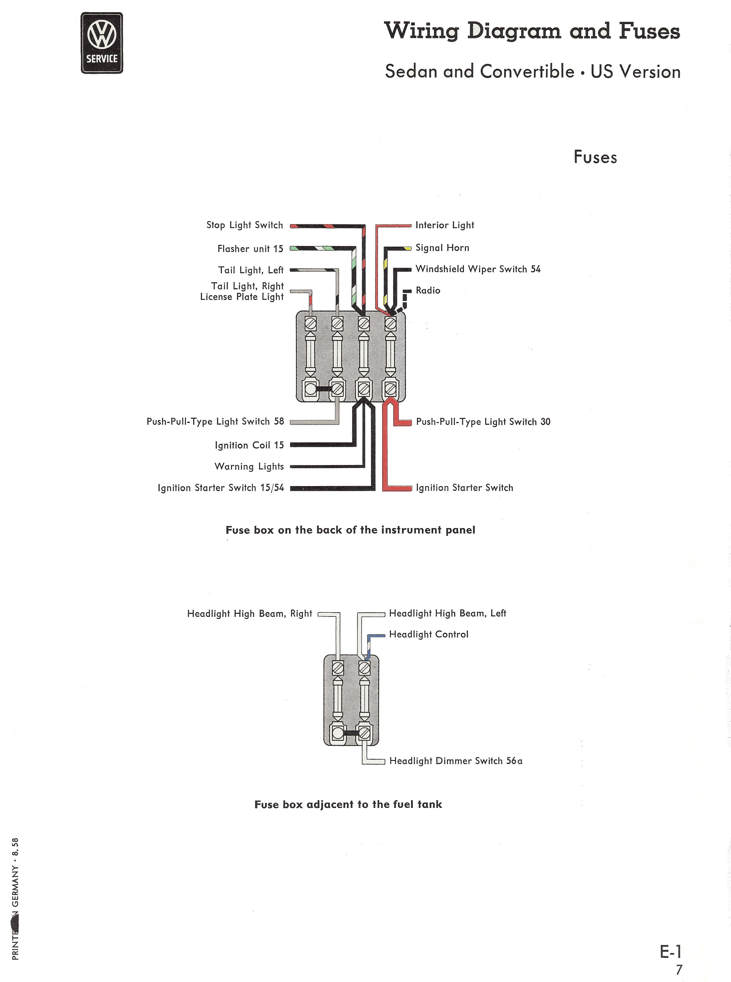 Type 1 Wiring Diagrams Air Cooled Vw Ignition Coil Diagram Key