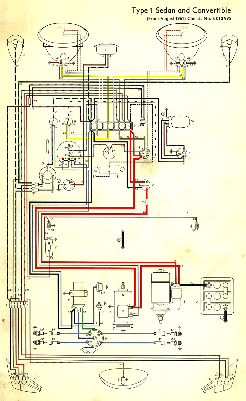 thesamba com type 1 wiring diagrams rh thesamba com VW Buggy Wiring-Diagram VW Buggy Wiring-Diagram