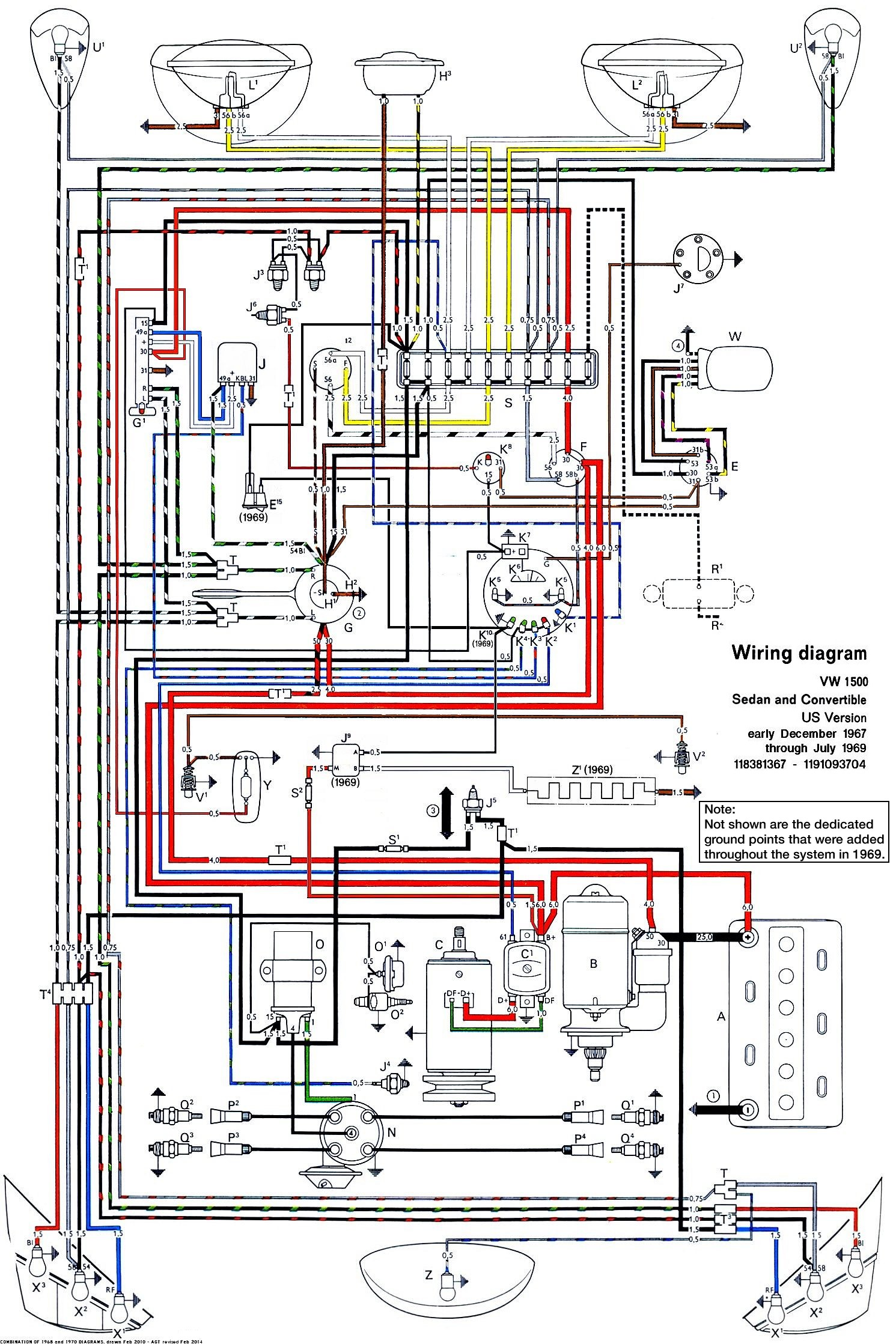 bug_68_69_usa need a simple wiring diagram for turn signals on a 69 beetle the 1968 vw bug wiring diagram at aneh.co