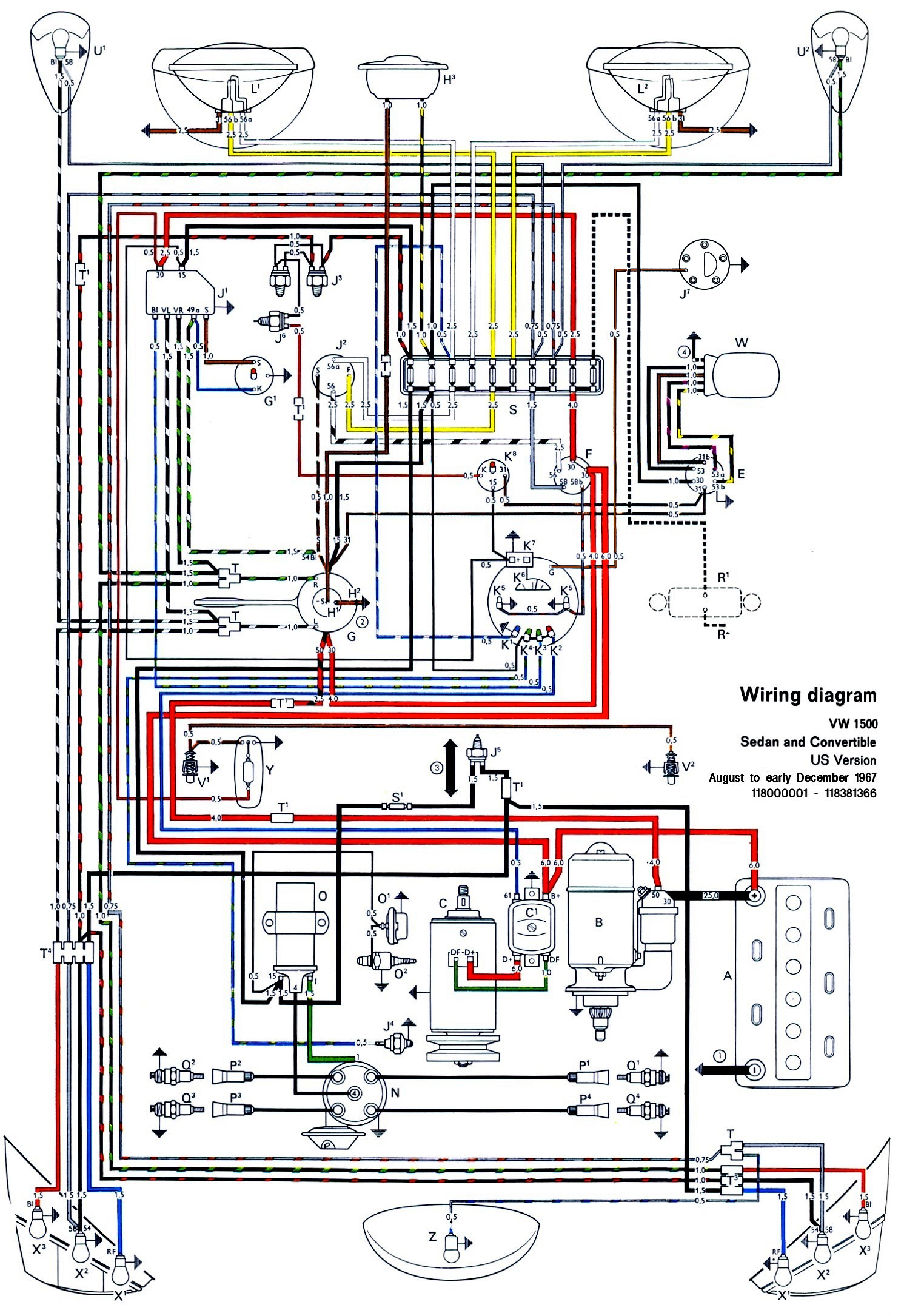 thesamba.com :: type 1 wiring diagrams 70 cuda wiring diagram 70 vw wiring diagram