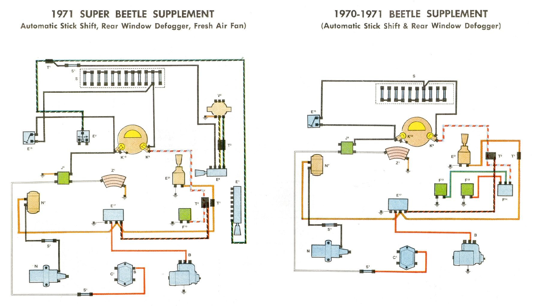 Bug Supplement on 73 Super Beetle Wiring Diagram