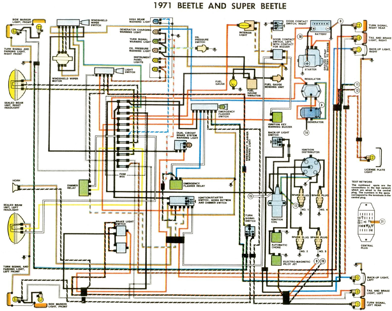 1973 dodge challenger wiring diagram for electronic distributor thesamba com type 1 wiring diagrams