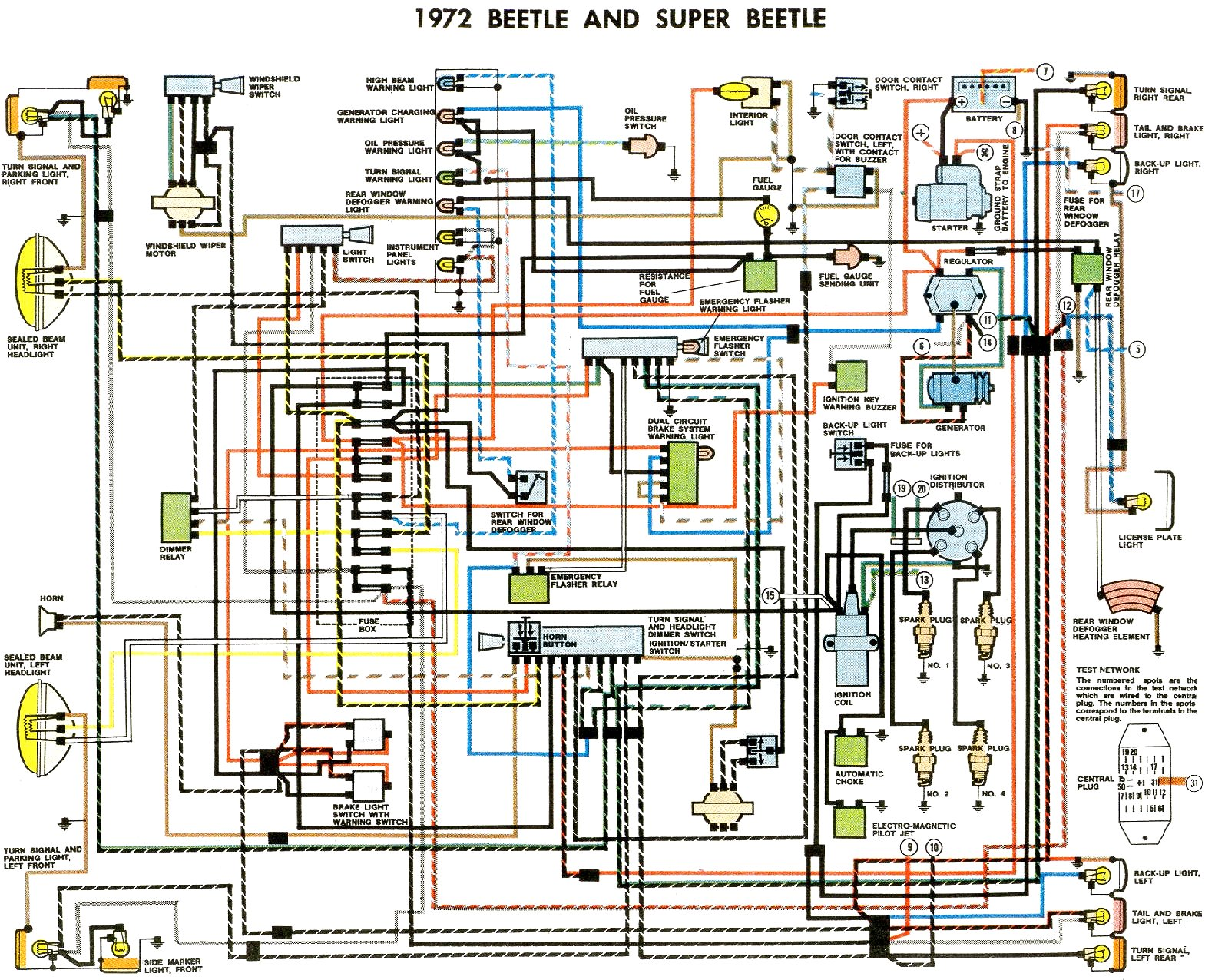 Mk3 Golf Wiring Diagram:  VW Bug Indicator wiring diagram ,Design