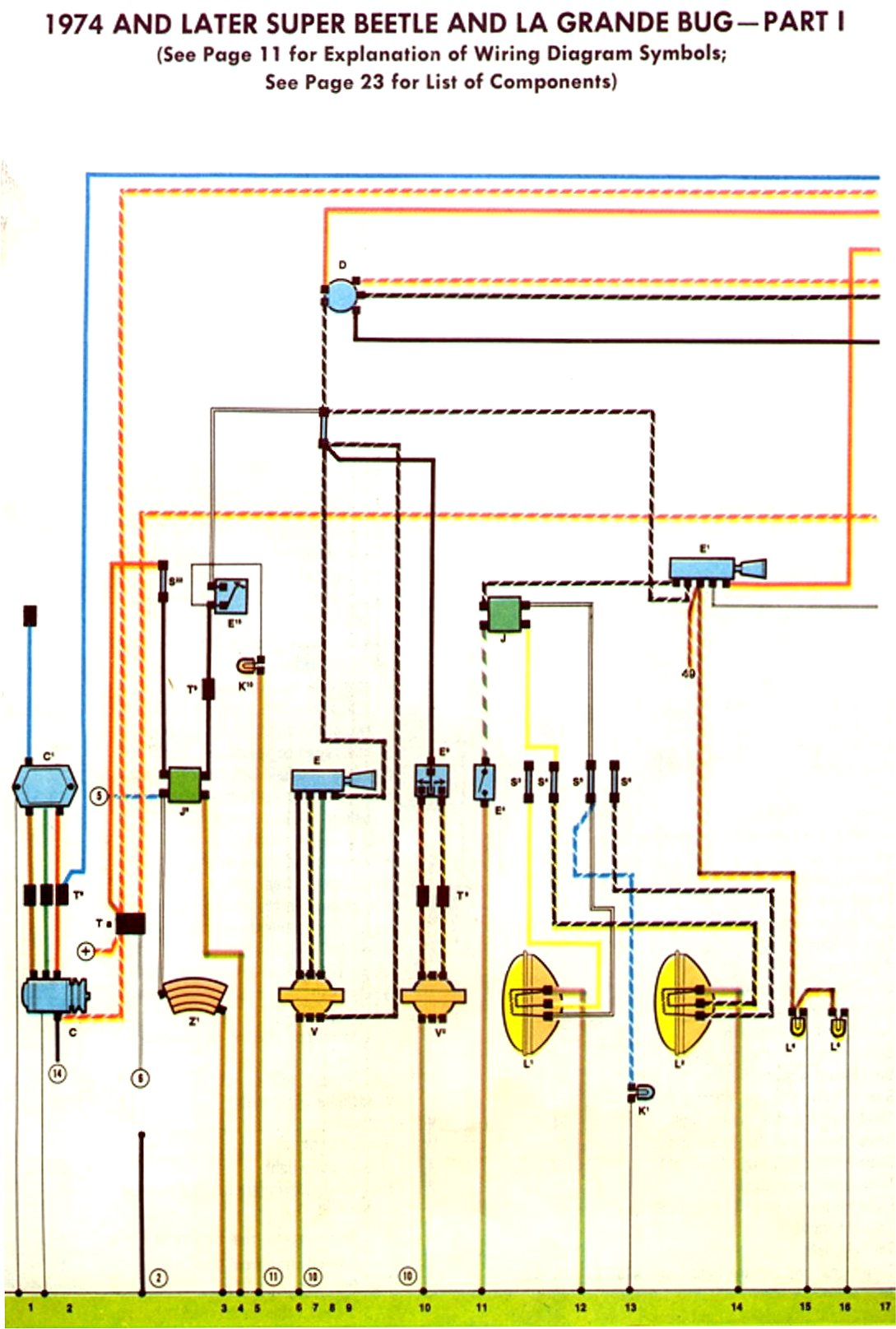 74 beetle fuse box wiring diagram delorean fuse box wiring diagram thesamba.com :: beetle - late model/super - 1968-up - view ... #14