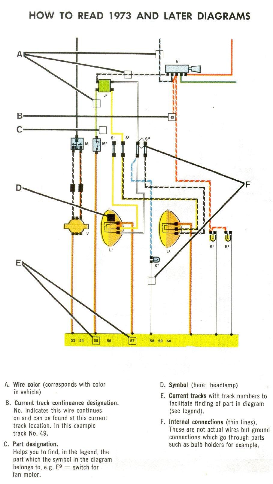 how do you read a vw fuse diagram
