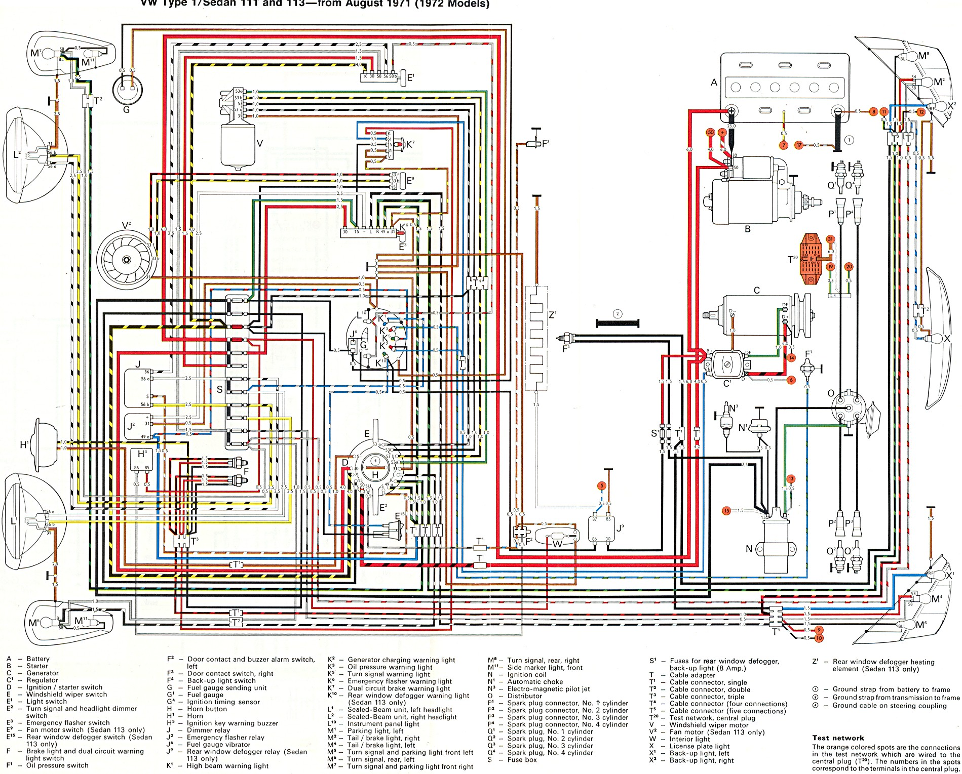 WRG-7511] 4 Best Images Of 72 Vw Beetle Wiring Diagram on