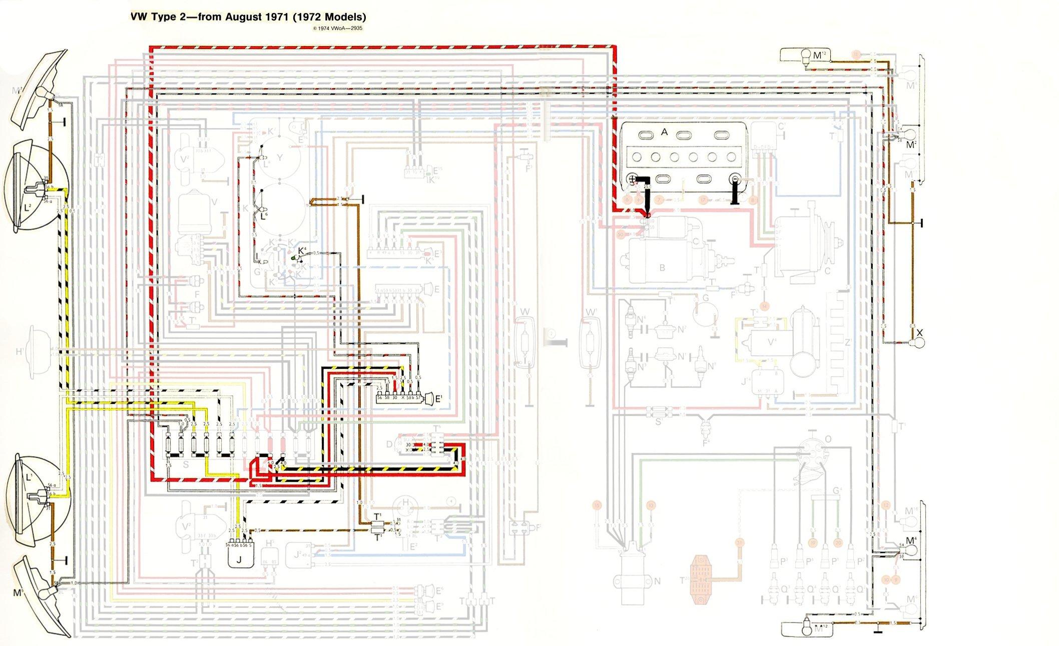 1977 vw bus wiring diagram vw bus wiring diagram jet l
