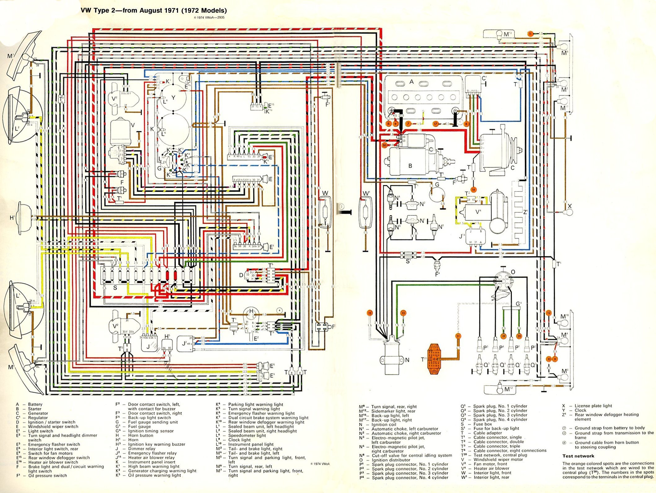 thesamba.com :: type 2 wiring diagrams radio wire diagram 97 vw #2