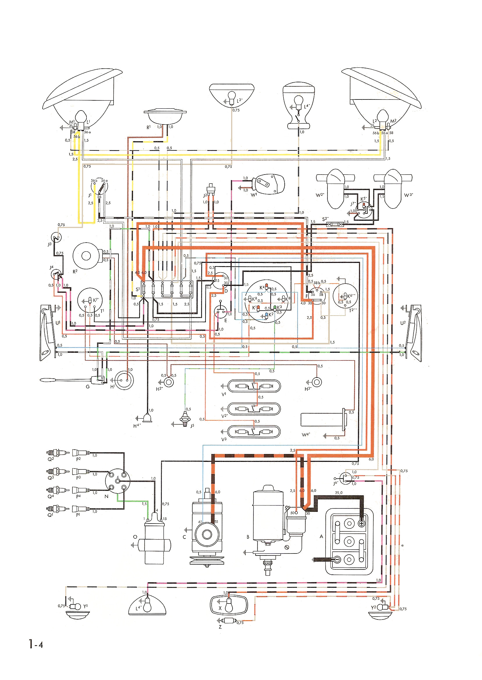Wiring Diagram For 1960 Vw Beetle : Chevelle heating diagram free engine image for