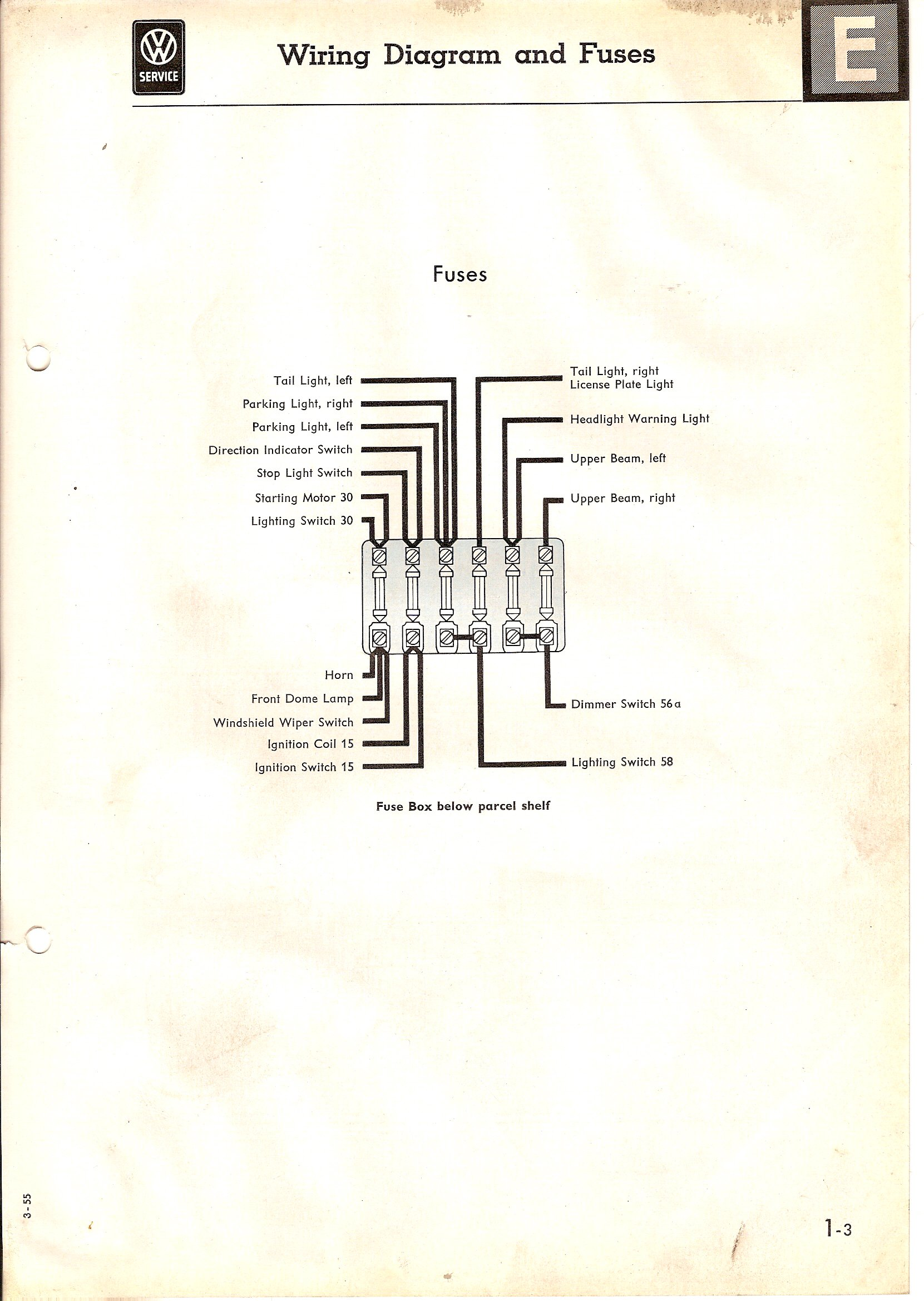 Type 2 Wiring Diagrams 68 Camaro Dome Light Diagram 1955 March Turn Signal