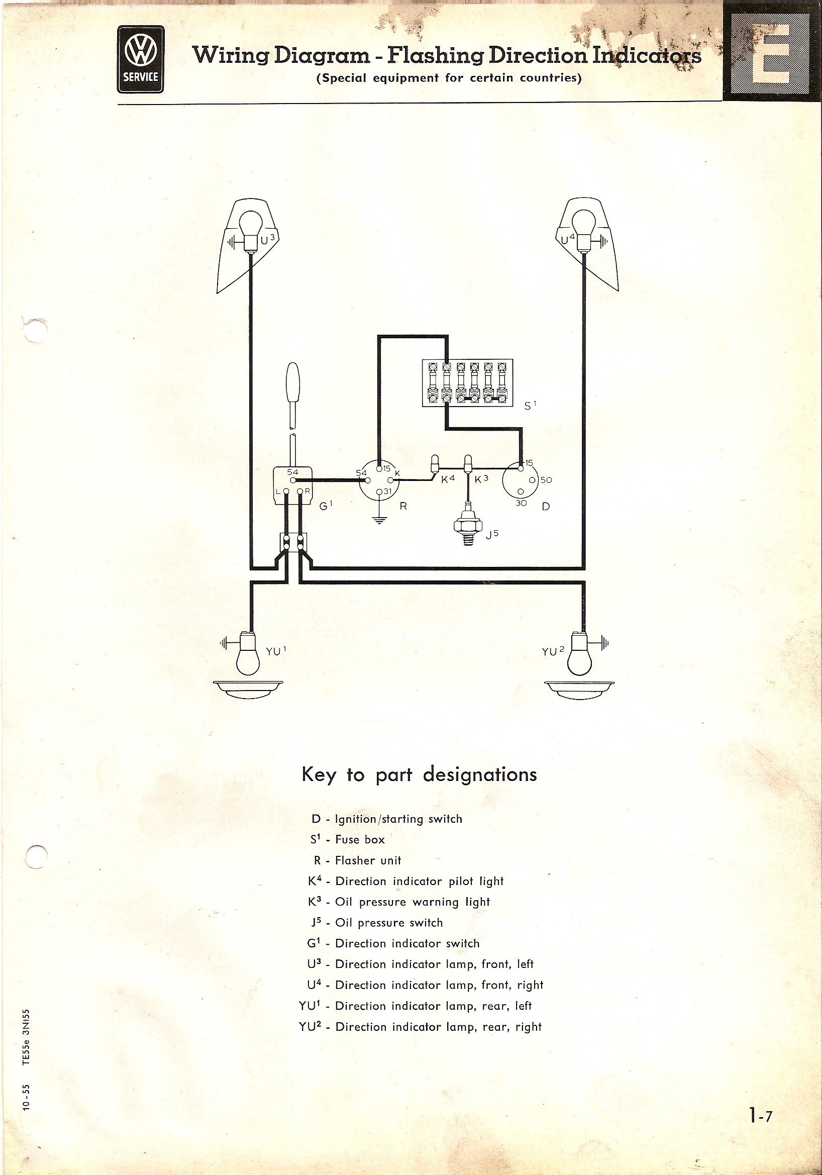 1969 Buick Turn Signal Wiring Diagram Sample Kenworth T800 Engine Thesamba Com Type 2 Diagrams Steering Wheel Assembly