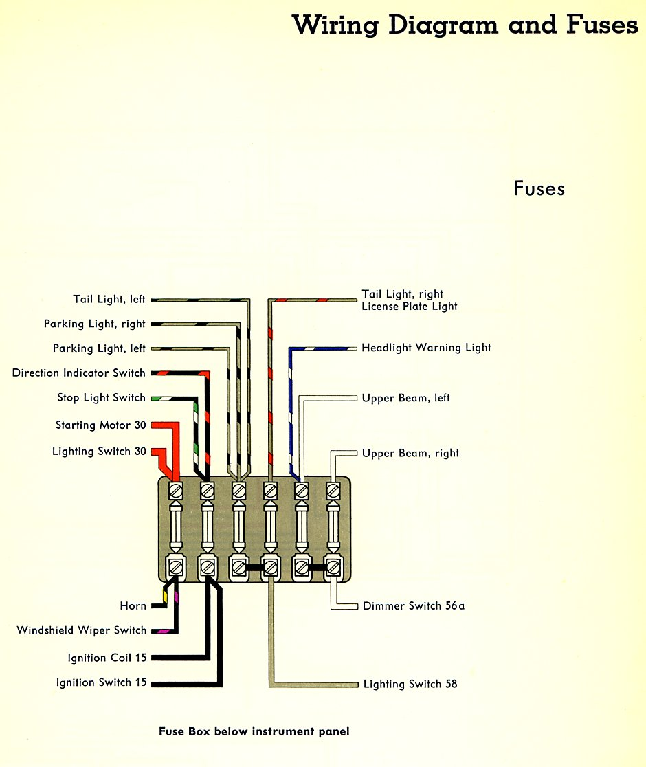 Type 2 Wiring Diagrams 1958 Corvette Instrument Cluster Diagram