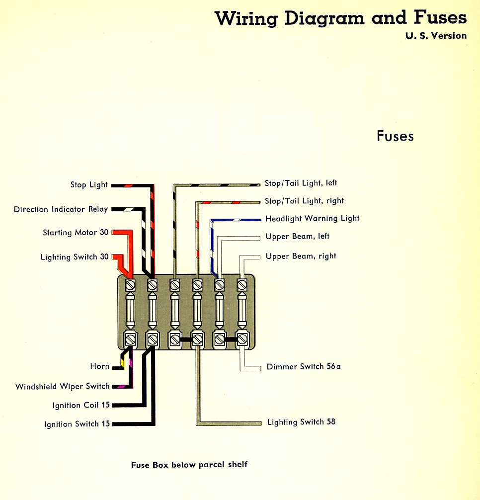 Vw Bus Fuse Box Diagram Wiring All Data 67 Beetle Thesamba Com Type 2 Diagrams 1972