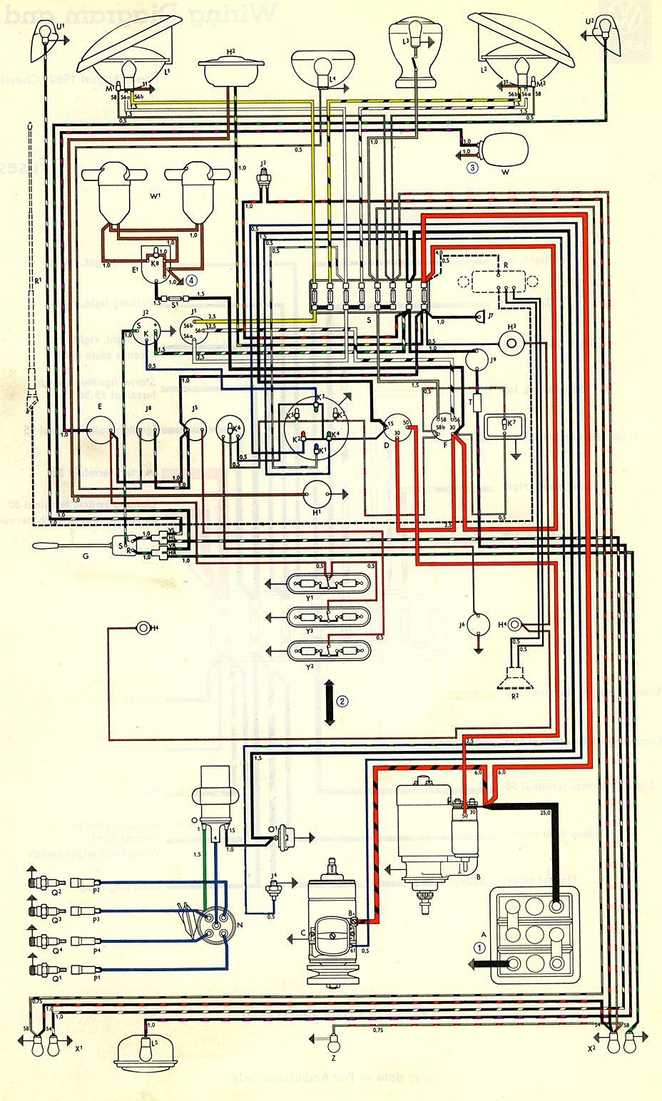 Vw Wiring Diagram Free For You 66 Nova Voltage Regulator 71 Beetle Get Image About 1968 70 Type