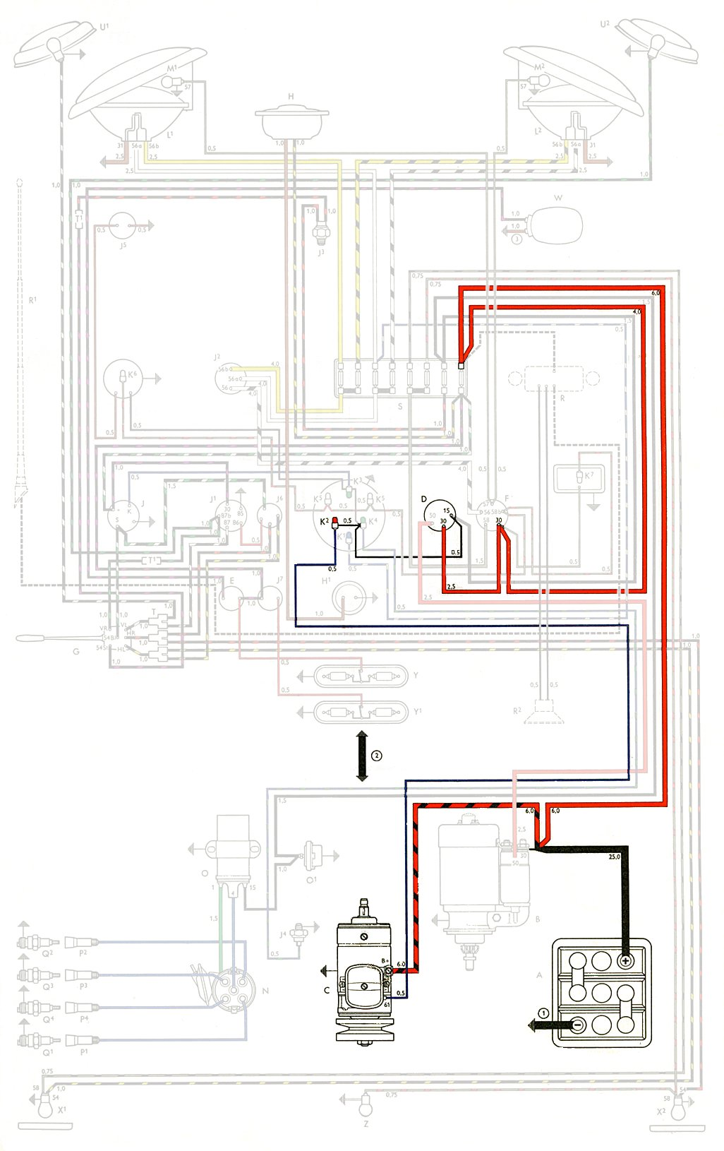 thesamba.com :: type 2 wiring diagrams vw generator wiring