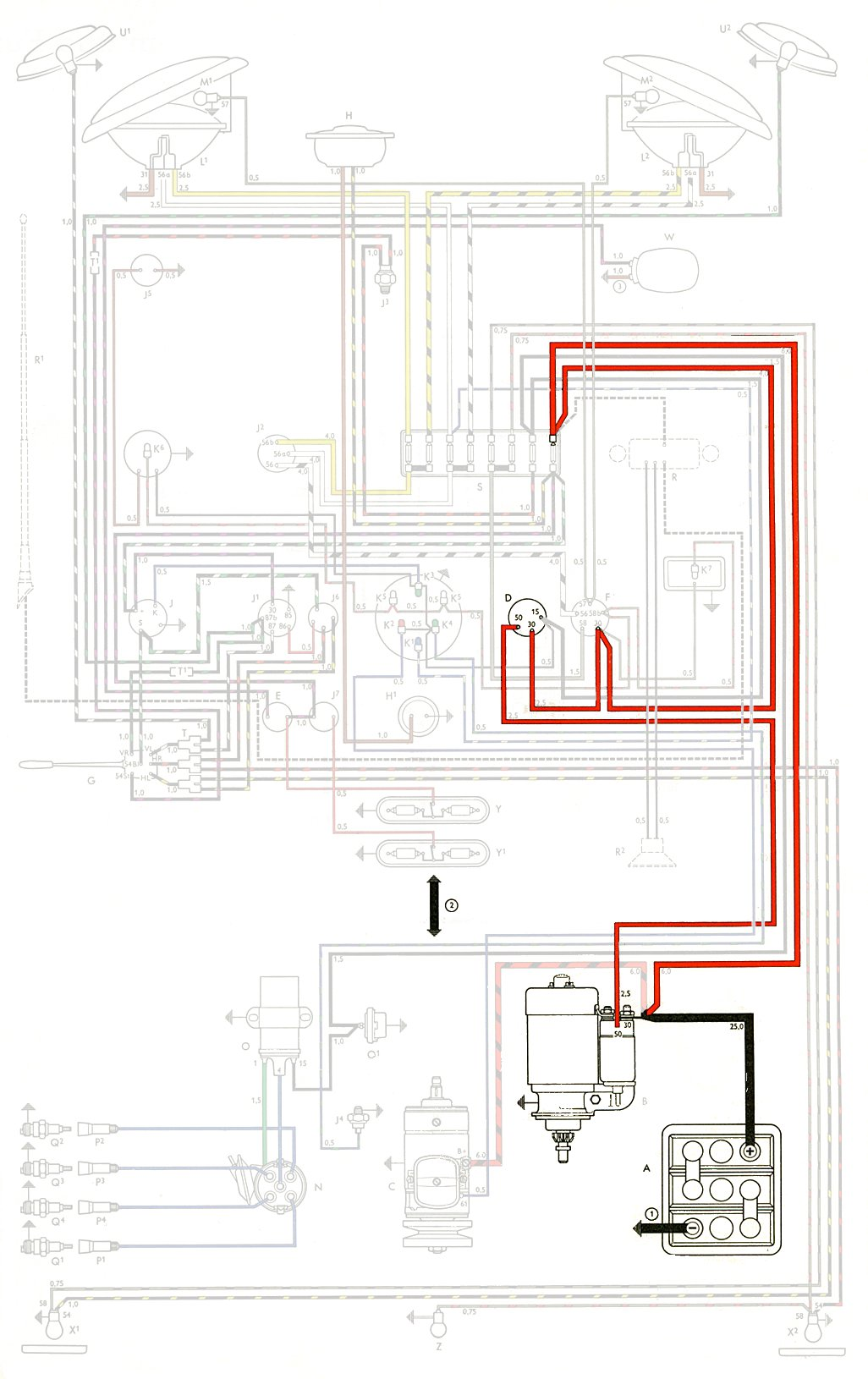 1969 vw starter wiring diagram