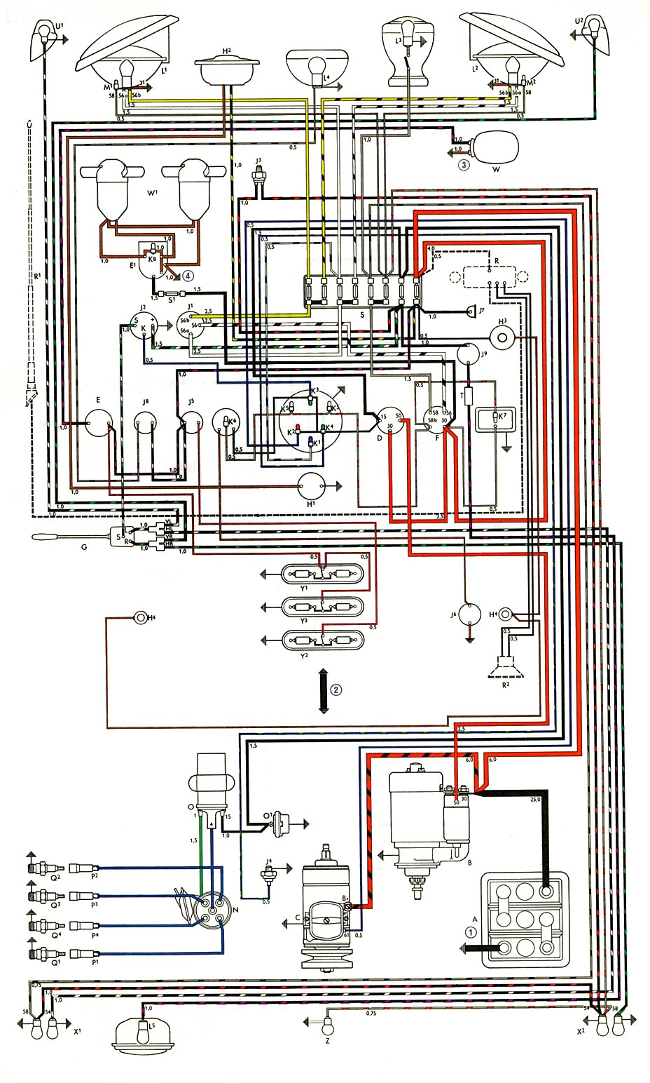 bus_63_non_usa thesamba com type 2 wiring diagrams 1963 corvette wiring diagram at gsmx.co