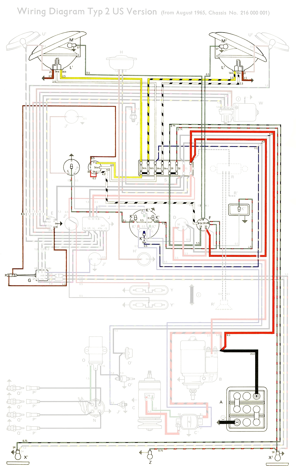 69 vw generator wiring diagram  | 1036 x 1654