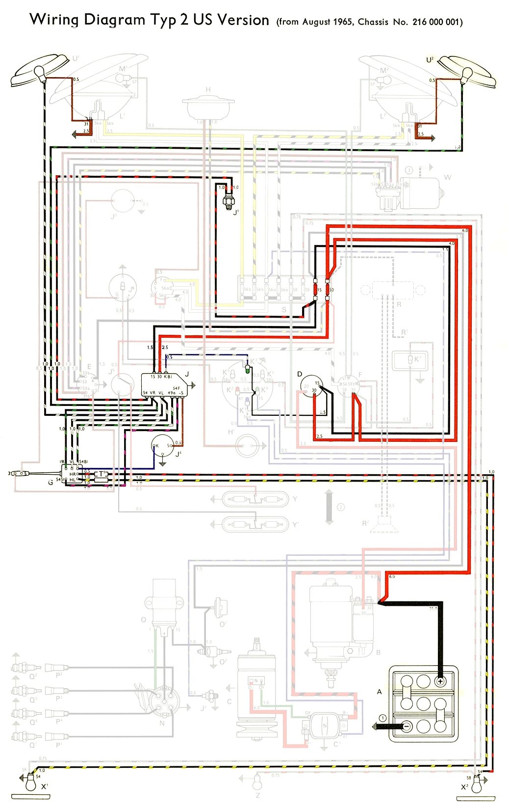 thesamba com type 2 wiring diagrams headlights highlight