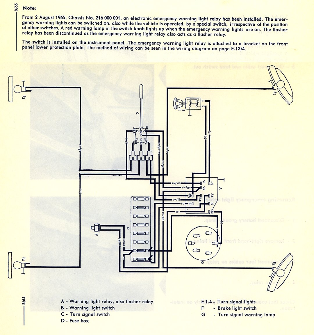 thesamba.com :: type 2 wiring diagrams parking brake indicator light wiring diagram
