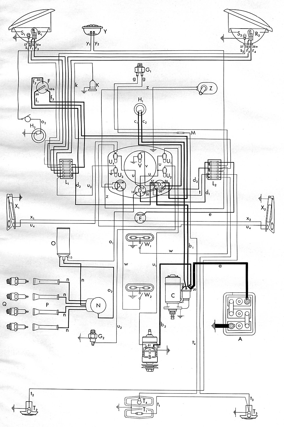 Pelicanparts together with Maxresdefault additionally  moreover Bug A as well And Usa From August. on 1971 vw beetle wiring diagram