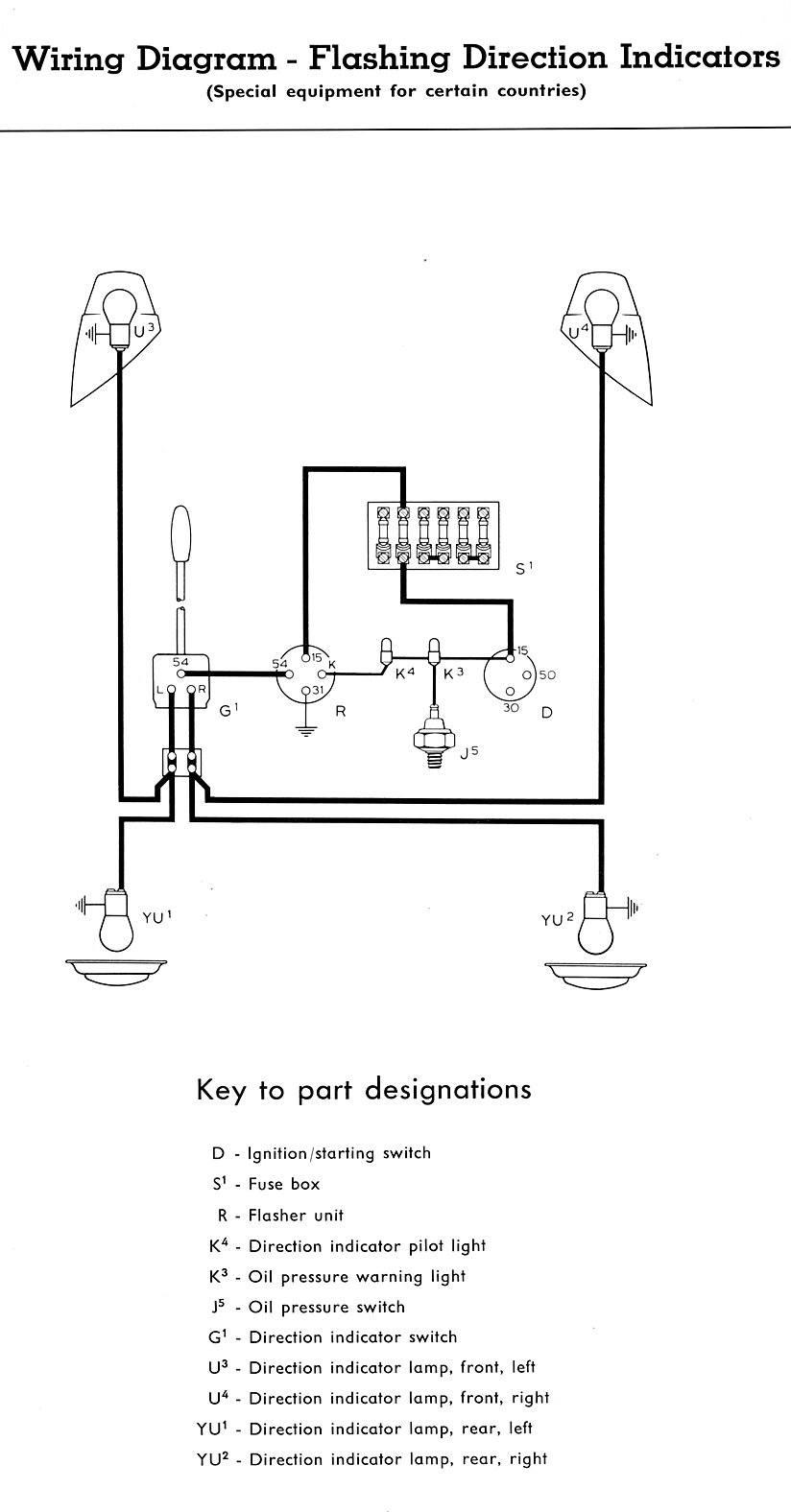 Type 2 Wiring Diagrams A Gas Lamp Turn Signal