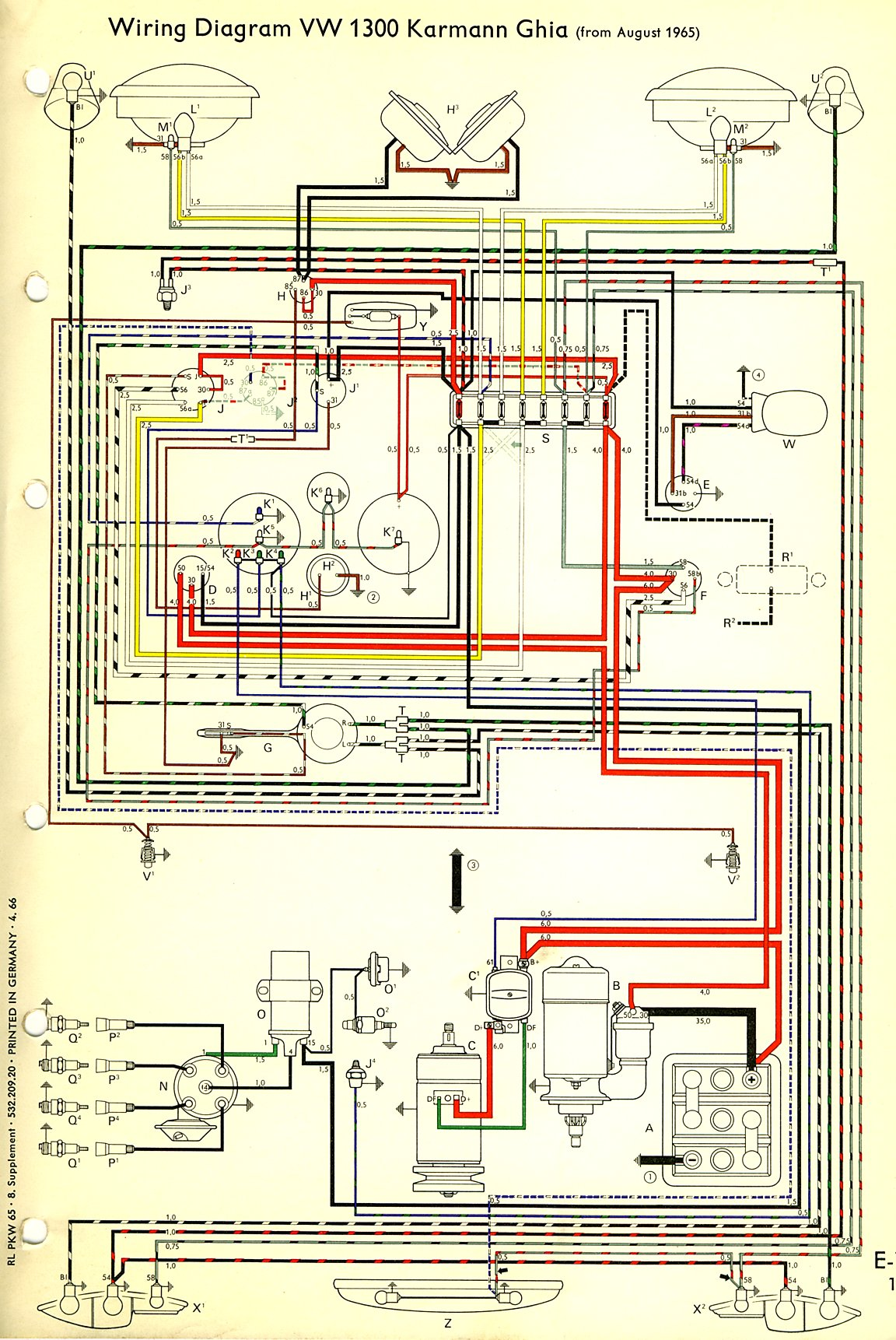 thesamba com karmann ghia wiring diagrams 1966