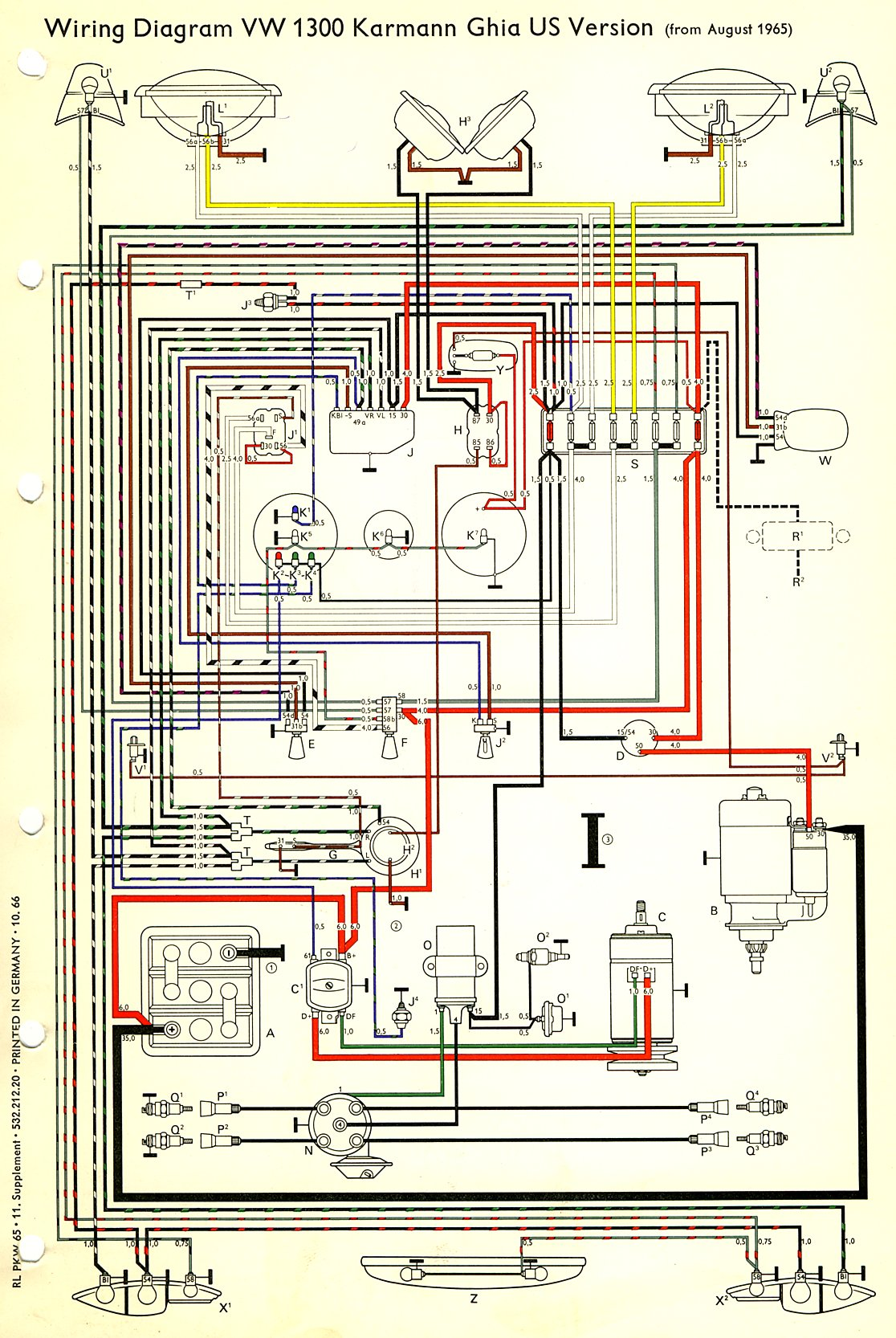 com karmann ghia wiring diagrams 1966 usa