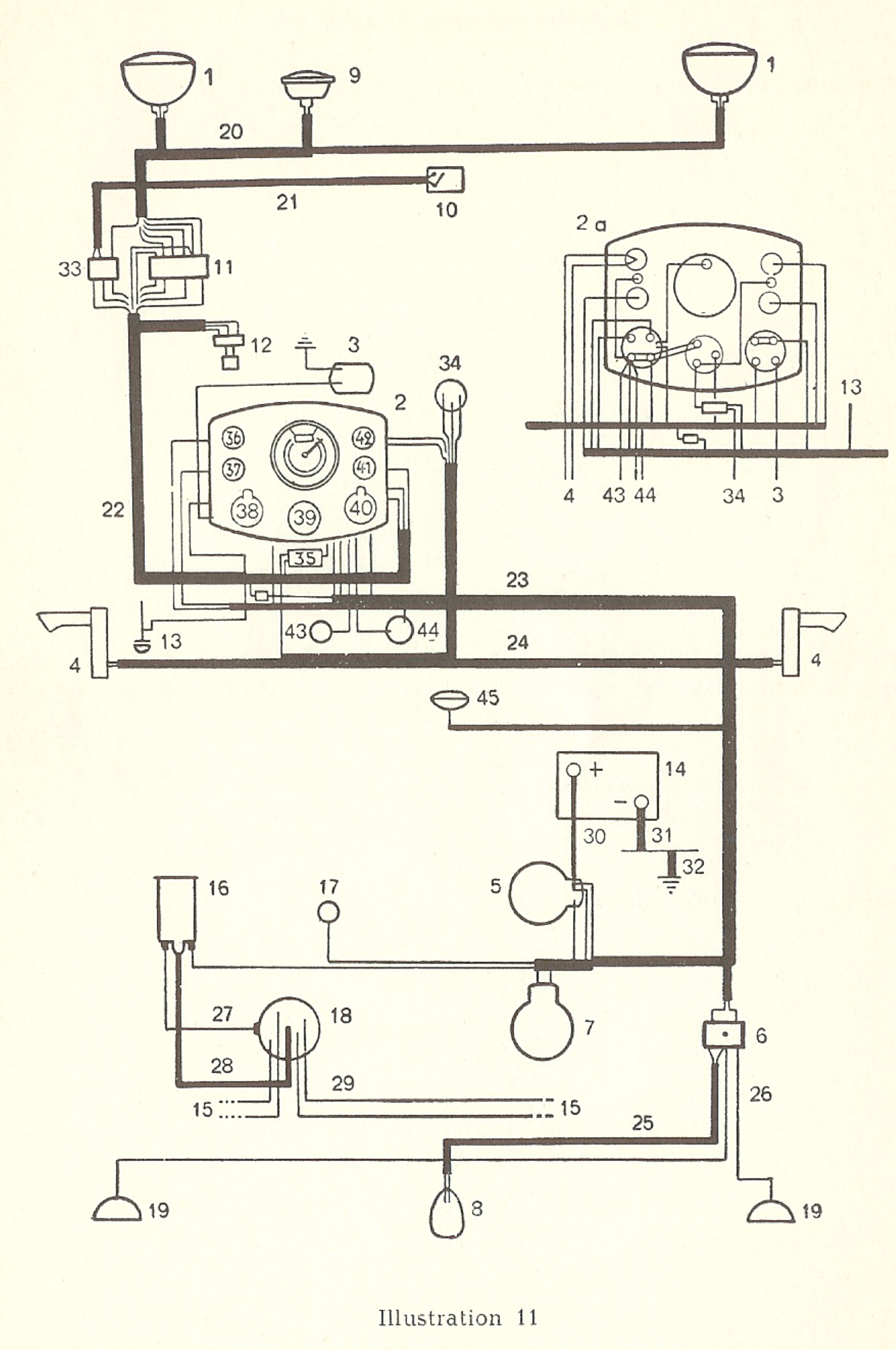 1968 Vw Turn Signal Wiring Diagram Wire Center Brake Thesamba Com Type 1 Diagrams Rh Gm Switch And