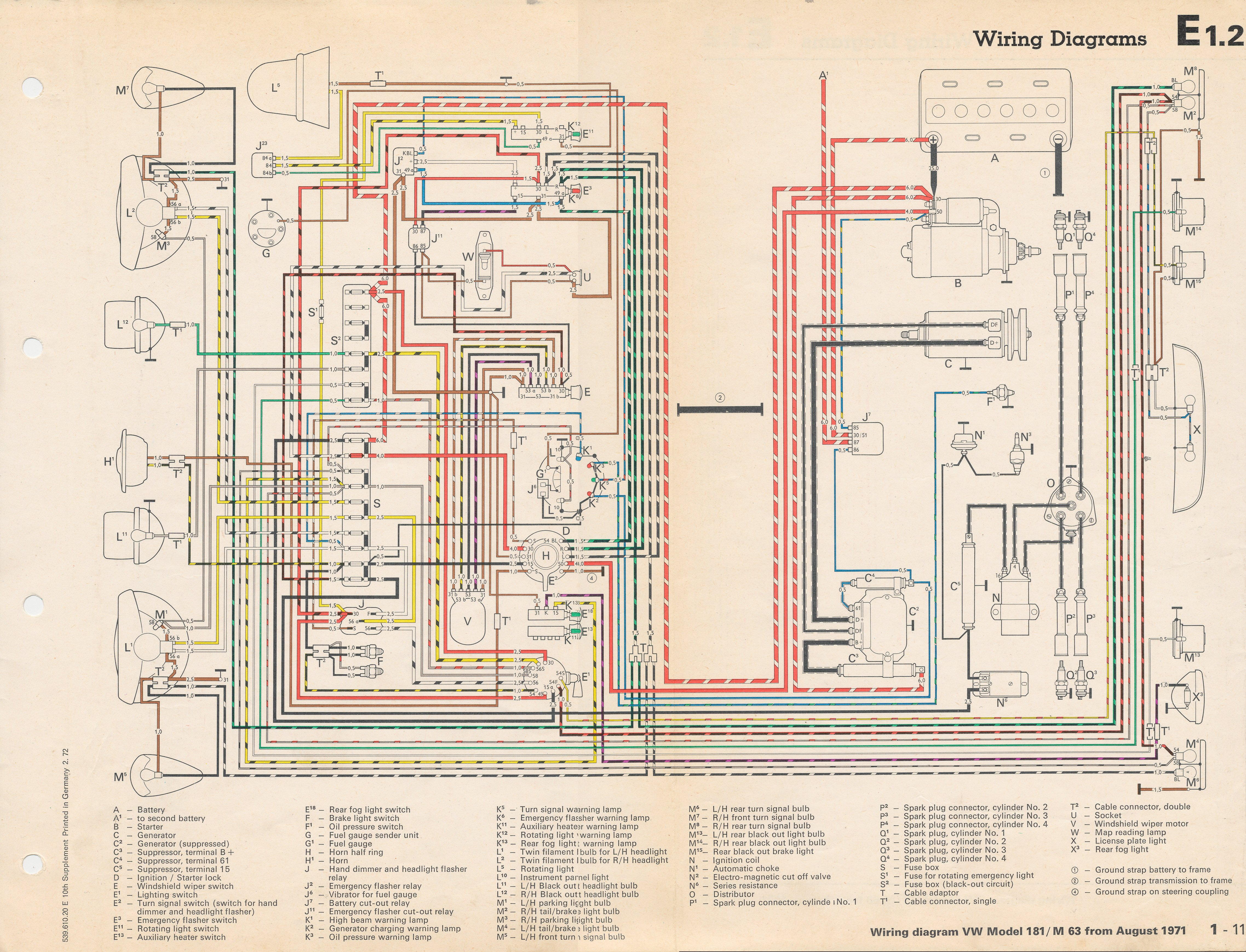 thesamba com vw thing wiring diagrams 1972