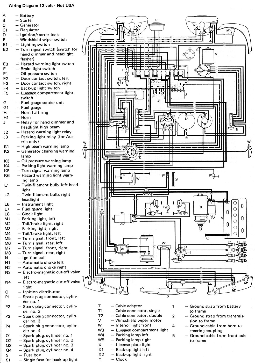 Vw Type 3 Wiring Diagram Diagrams 1973 Volkswagen Thesamba Com View Topic 1967 Voltage Regulator