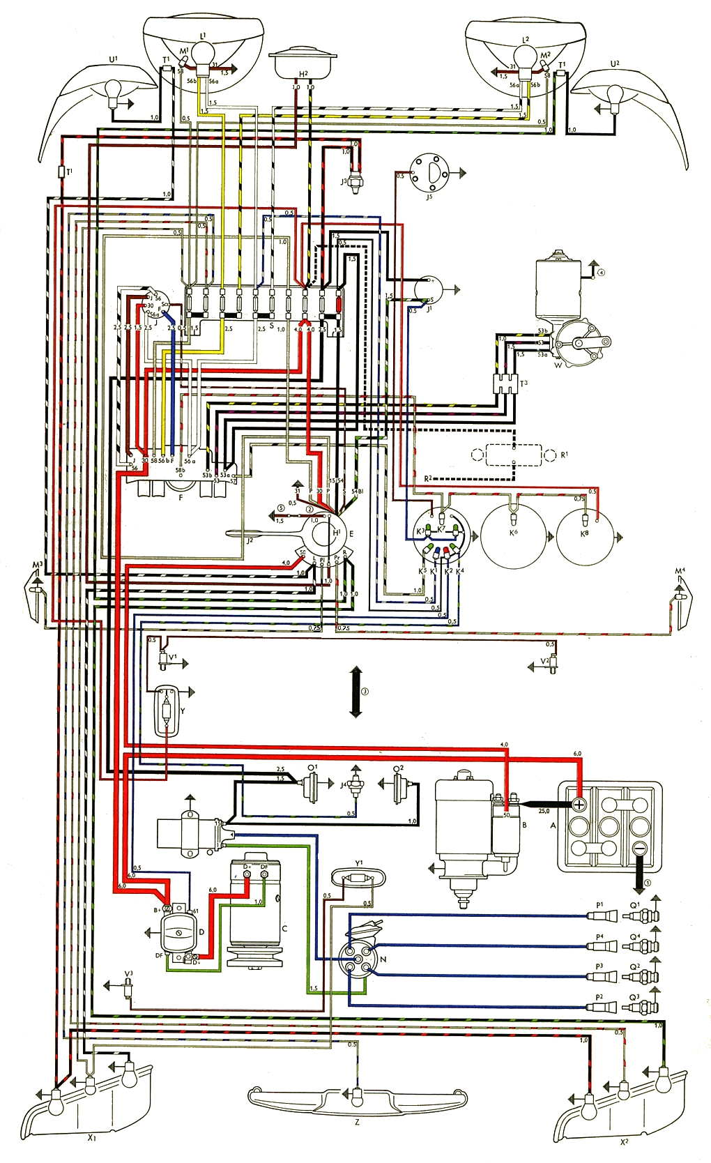 thesamba com type 3 wiring diagrams wabco vcs 2 wiring diagrams