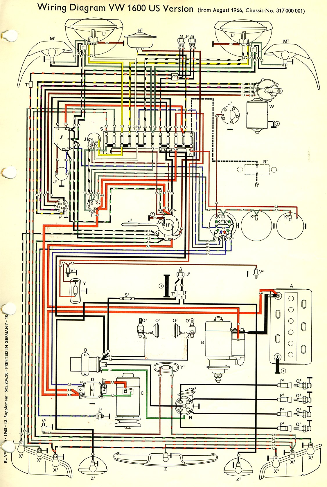 wiring harness vw type 3 wiring harness diagram vw type 3 wiring diagram #15