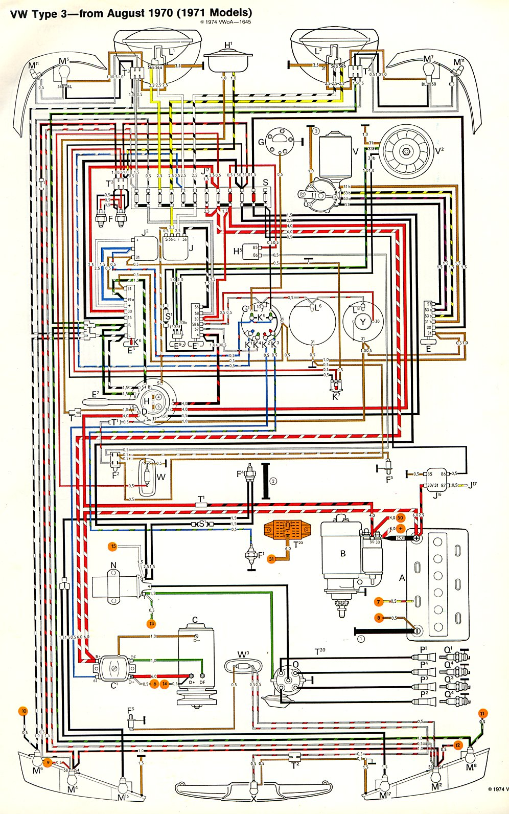1977 corvette fuse box diagram 1977 chevy fuse box diagram thesamba com type 3 wiring diagrams #4