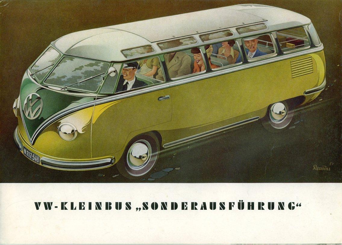 Thesamba Com Vw Archives 1952 Vw Deluxe Bus Brochure