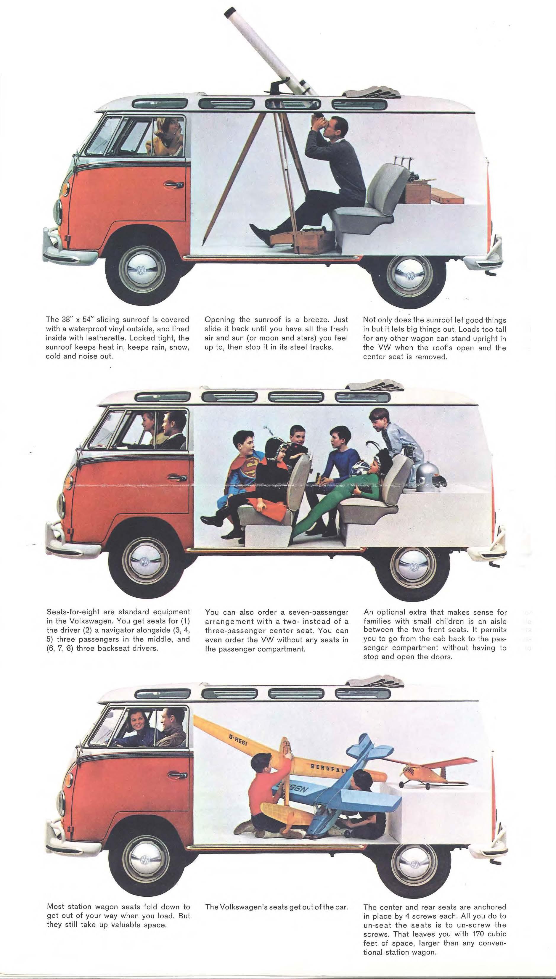 TheSamba.com :: VW Archives - 1964 VW Bus Brochure - Spacious