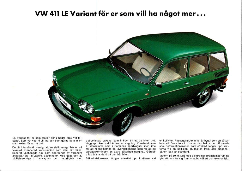 Thesamba Com Vw Archives 1970 Vw 411 Le Variant