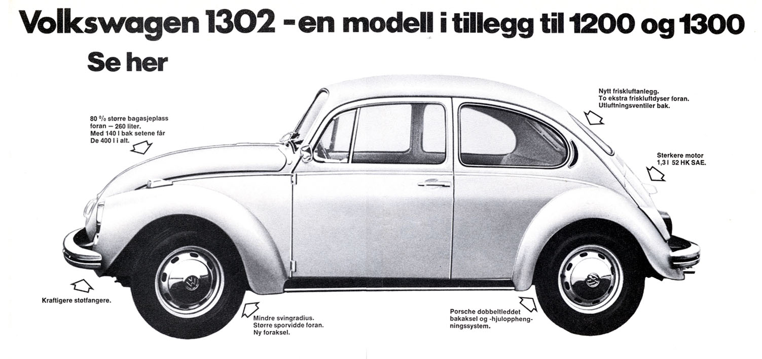 Thesamba Com Vw Archives 1971 Vw Beetle 1302 Danish