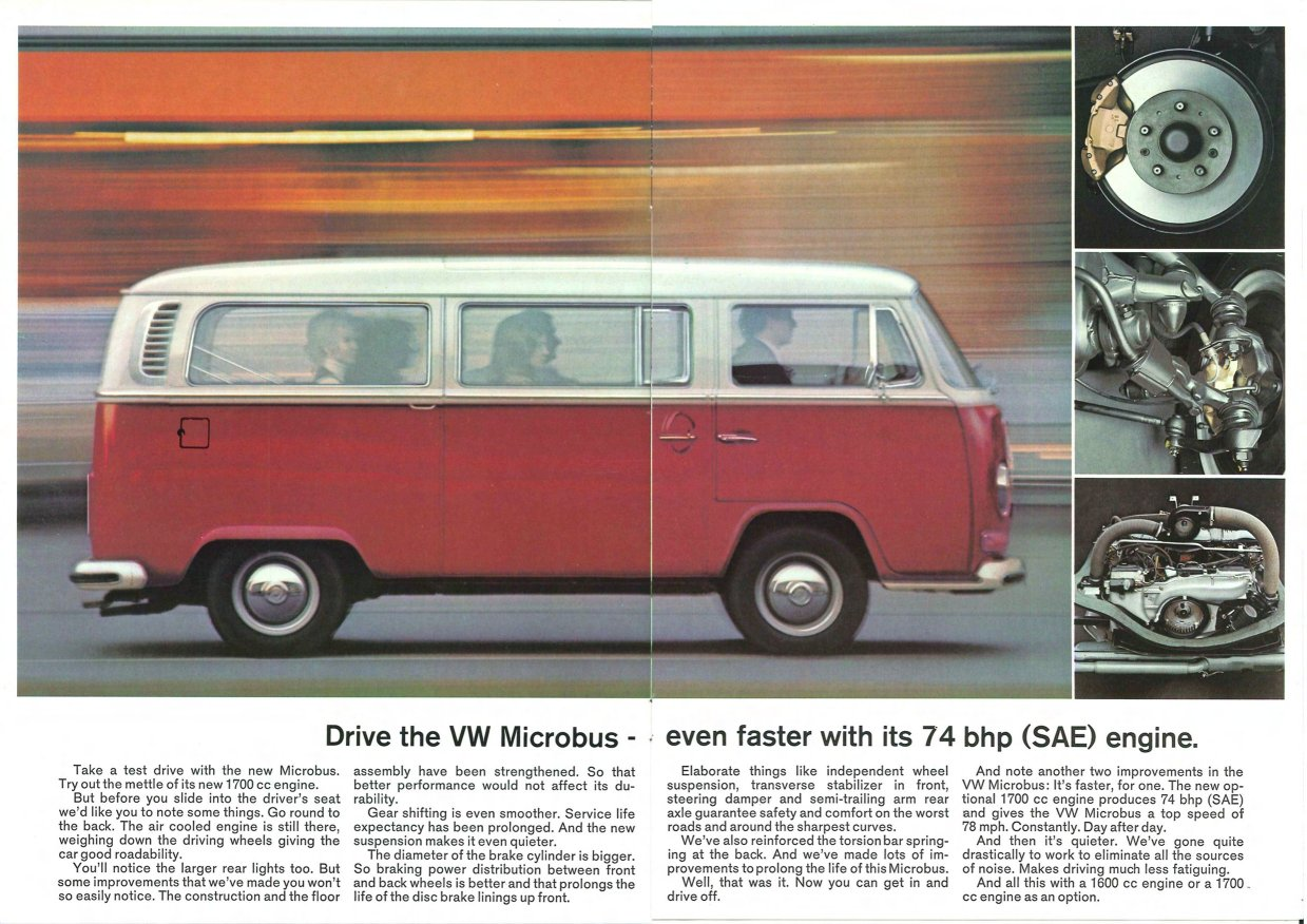 Thesamba Com Vw Archives 1972 Vw Bus Sales Brochure