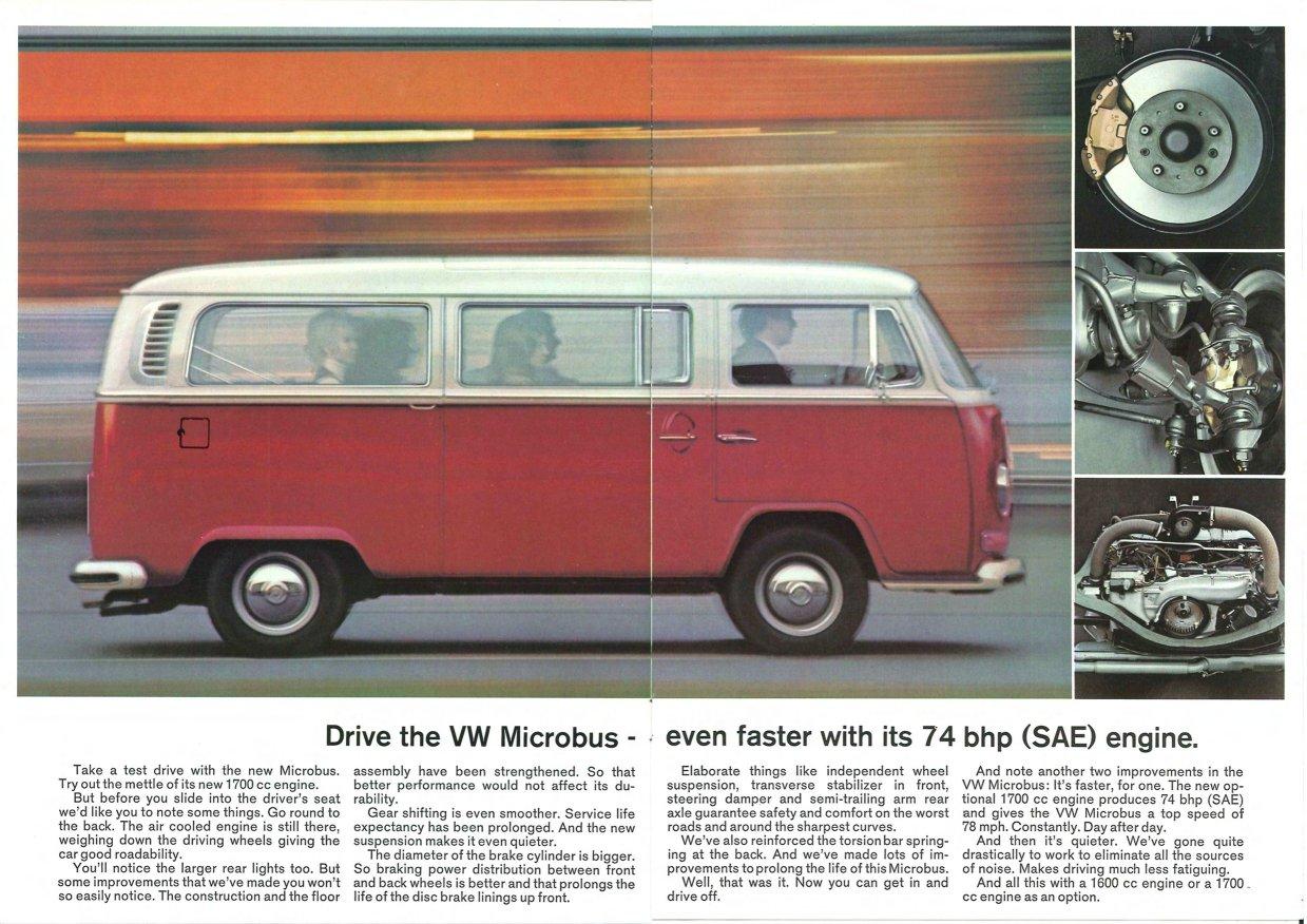 TheSamba.com :: VW Archives - 1972 VW Bus Sales Brochure - The VW Microbus