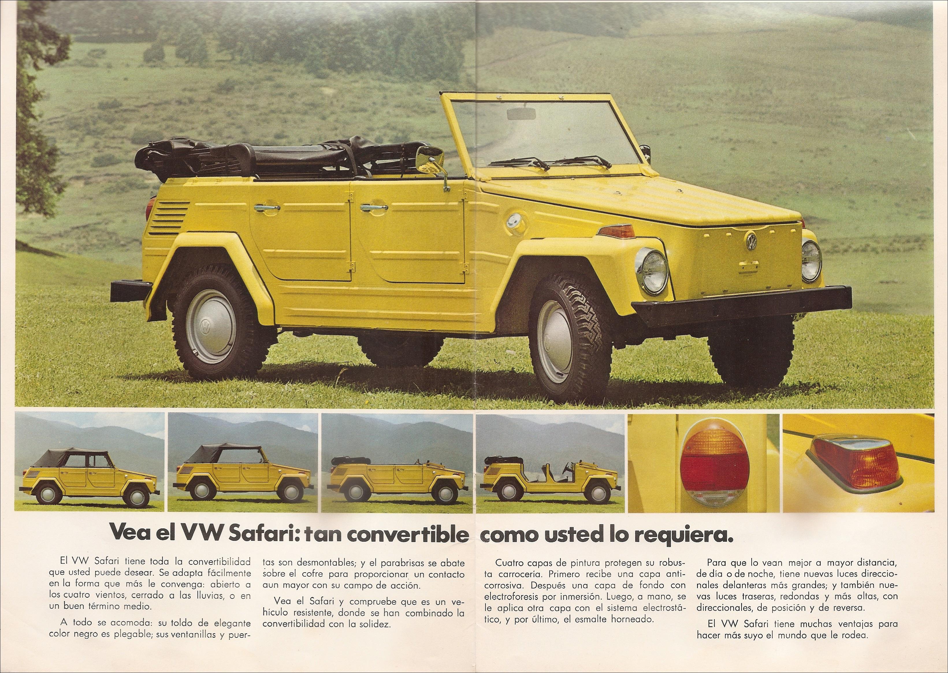 Thesamba Com Vw Archives 1974 Vw Thing Sales Brochure