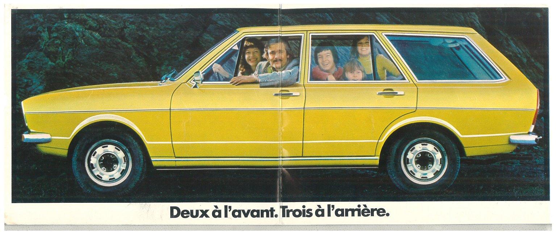 Thesamba Com Vw Archives 1974 Vw Passat Brochure French