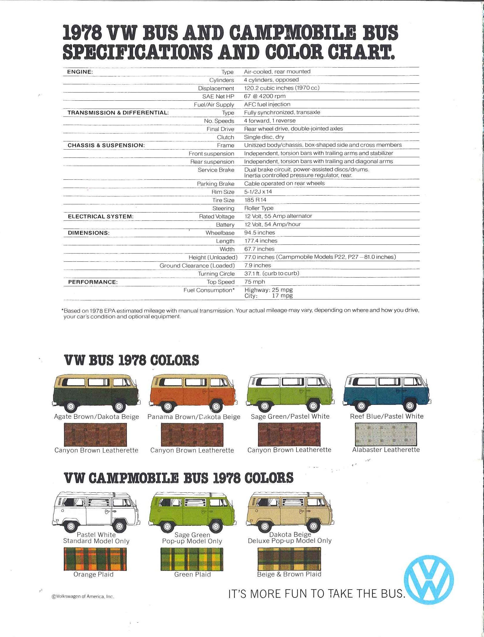 Thesamba vw archives 1978 vw bus sales brochure nvjuhfo Images