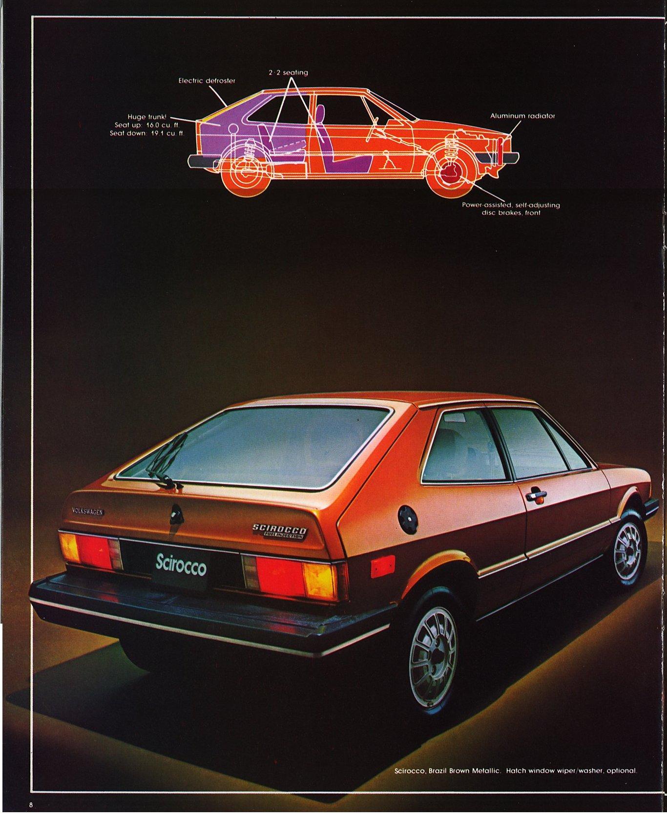 Volkswagen Scirocco 1980 : vw archives 1980 vw scirocco brochure ~ Nature-et-papiers.com Idées de Décoration