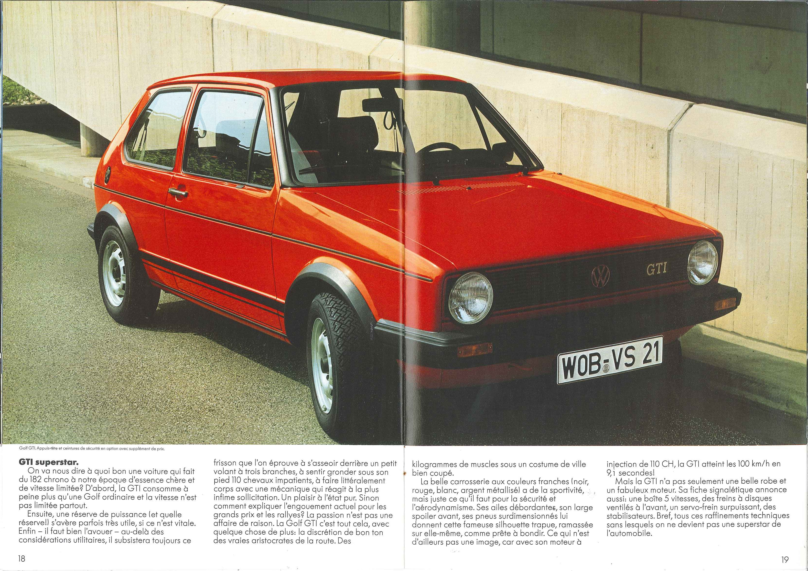 Thesamba Com Vw Archives 1981 Vw Golf Brochure French