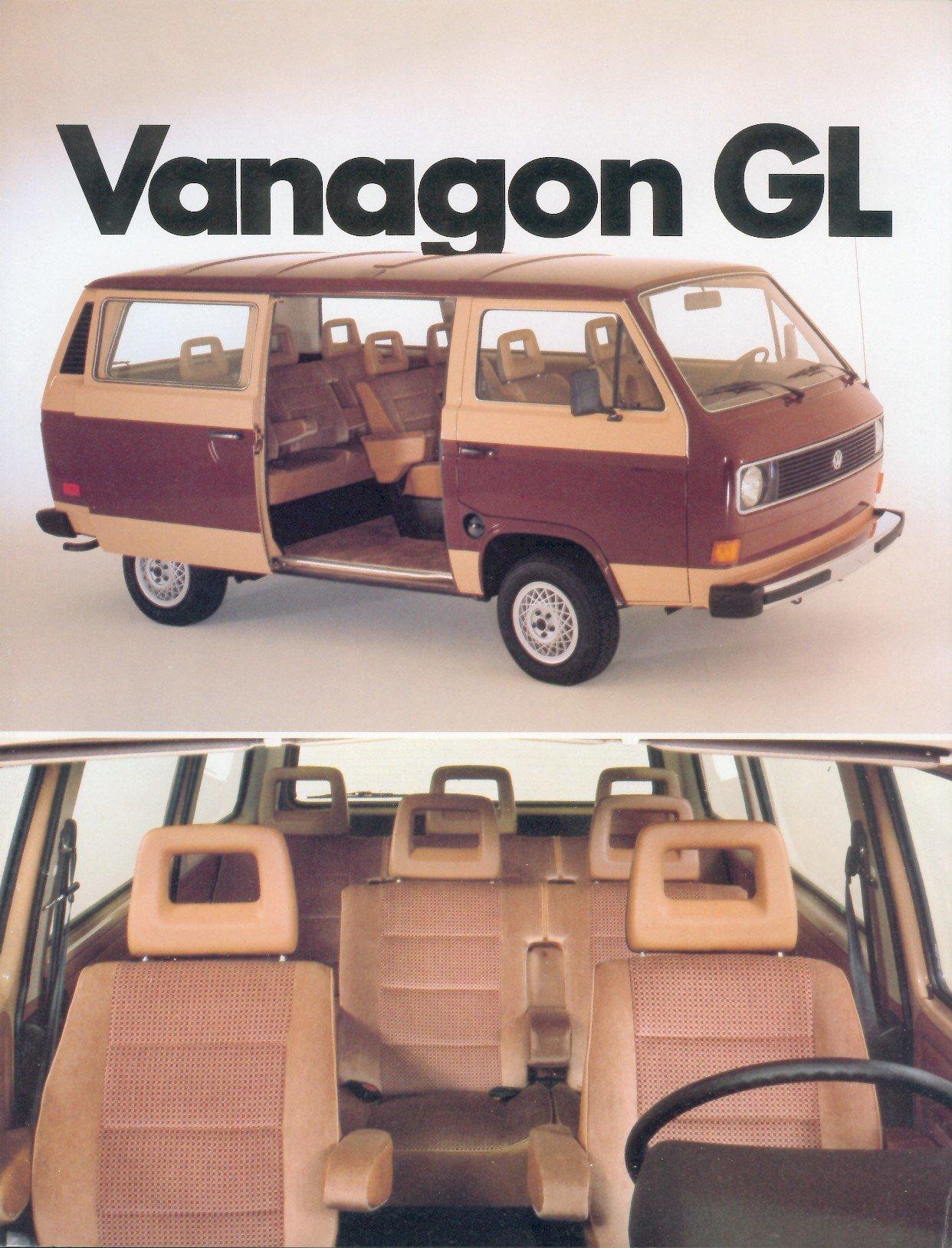 Thesamba Com Vw Archives 1982 Vw Vanagon Gl Brochure