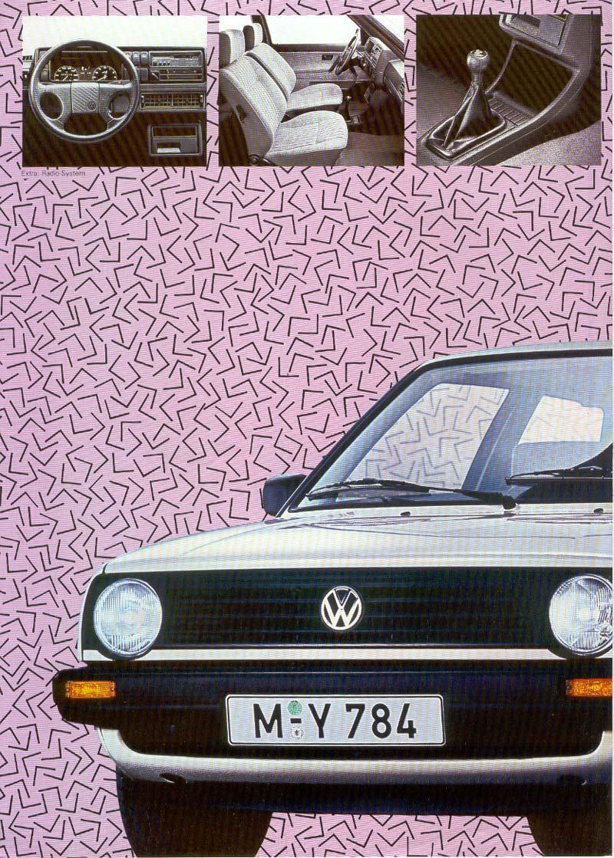 vw archives 1988 vw golf memphis sales brochure german. Black Bedroom Furniture Sets. Home Design Ideas