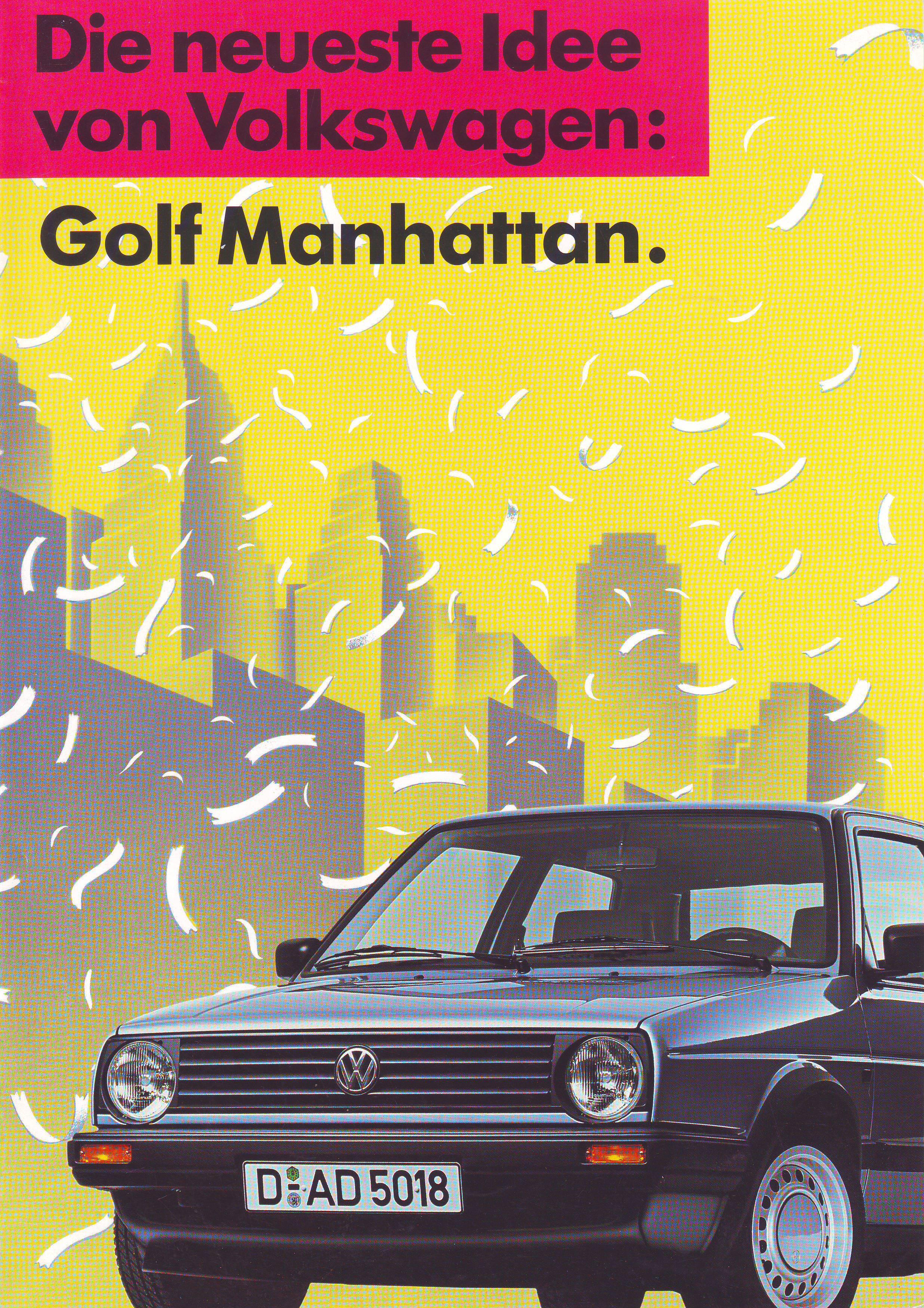 thesambacom vw archives  vw golf manhattan brochure german