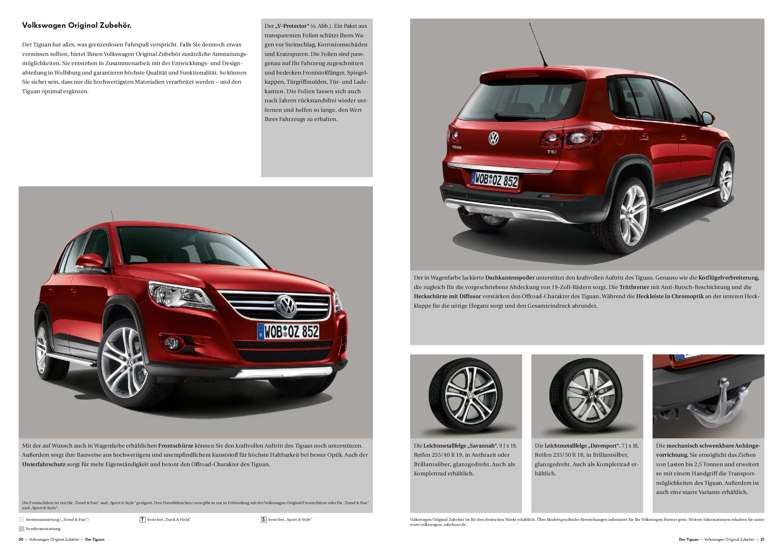 thesamba com vw archives 2009 vw tiguan sales brochure  spiegel hochwertige qualitat klasse design #8