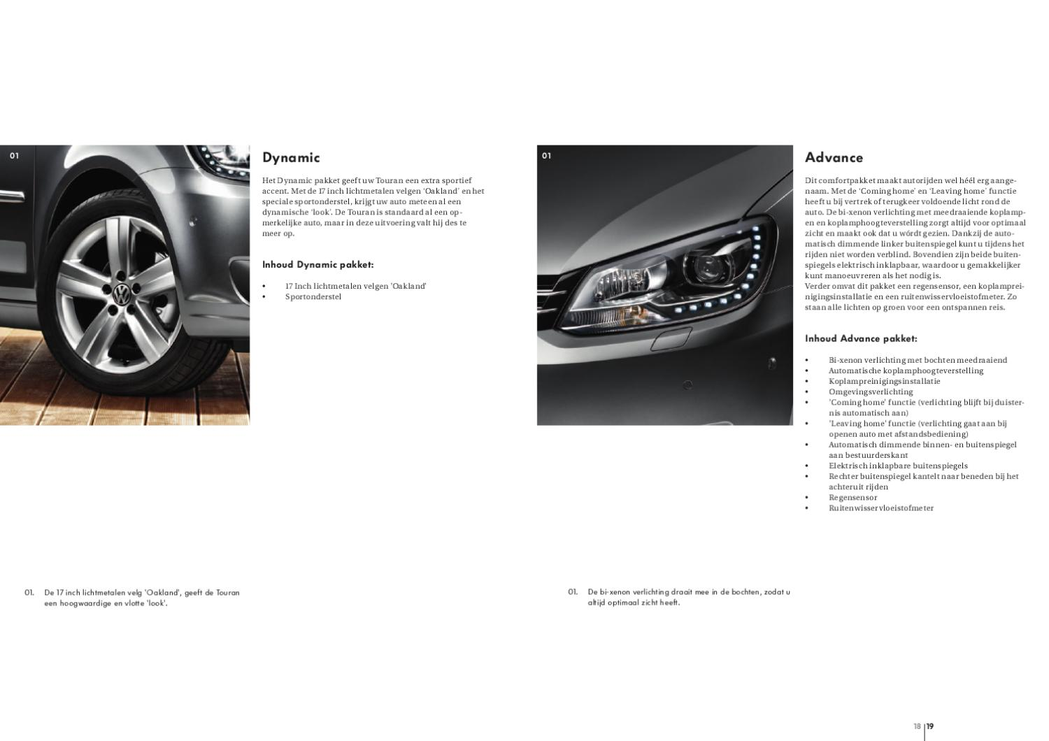 2010 vw touran sales brochure dutch click on any image to see it full size